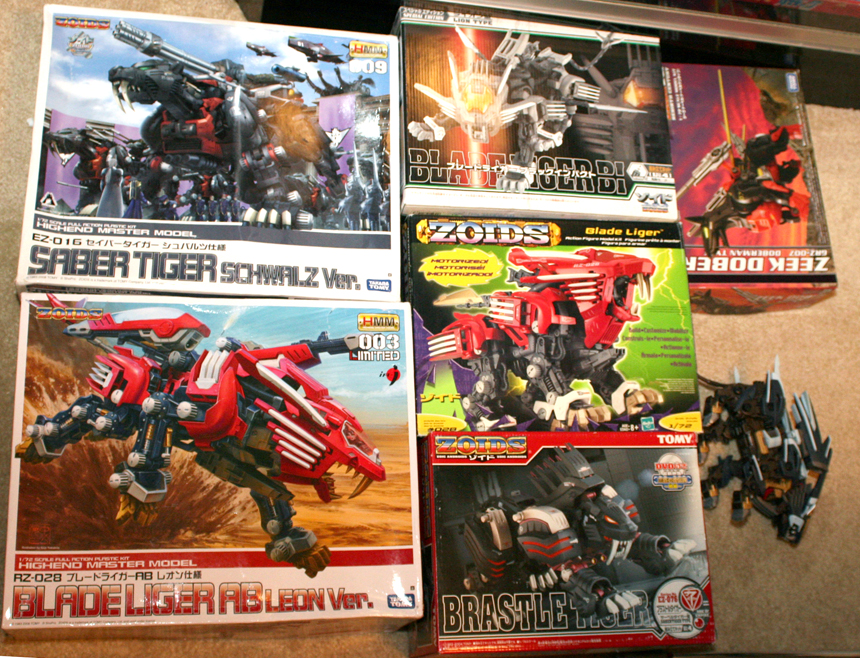 Zoids robots and animals